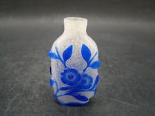 Chinese 18th century nice carved glass snuff bottle  x2719