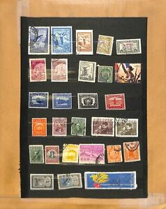 [OP4740] Latin America lot of stamps on 12 pages