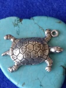 Turtle Pendant  Sterling Silver Charm