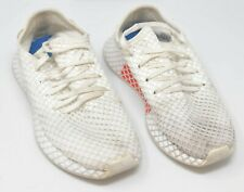 """Boy's ADIDAS """"Deerupt"""" White Shoes Sneakers Running Mesh Boys Size 6 1/2"""