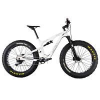 "IMUST Carbon Full Suspension Fat Tire Bike Snow Malamute 18"" Shimano XT Groupset"