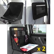 Folding Table Car Back Seat Storage Tidy Organiser Laptop Holder Tray Travel x 2