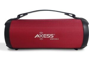 Loud Dynamic Sound Speaker Red Bluetooth w/LED Lights RADIO/SD CARD/USB