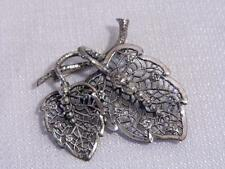 Brooch jewelry lapel Pin Leaf design vintage Ladies Sterling Silver by Jewel Art