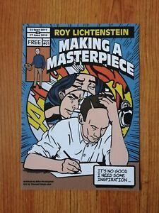 Roy Lichtenstein 'In focus' art exhibition flyer -Tate Gallery Liverpool 2017-18