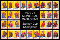MONTREAL CANADIENS 1970 1971 POSTER Stanley Cup Decor Art Birthday Gift 70 71