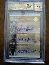 2010-11 Ultimate Larry Bird Magic Johnson Julius Erving Autograh Gem Mint