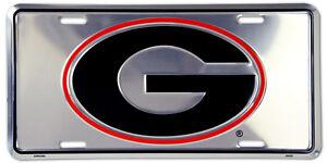 GEORGIA BULLDOGS CAR TRUCK TAG CHROME LICENSE PLATE SIGN UNIVERSITY