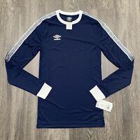 NEW Umbro Long Sleeve Jersey Adult XS Navy Blue Soccer Keeper $40