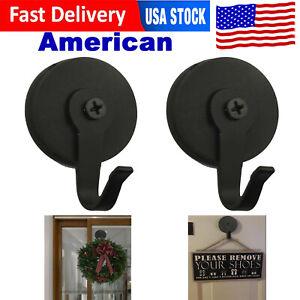 2x Magnetic Wreath Metal Hook Hanger for Front Door Over The Door Heavy Duty US