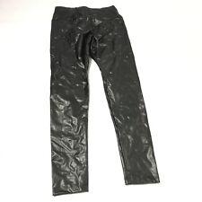 New York and Company Soho Yoga High Waist Legging XS Faux Leather Black Stretch