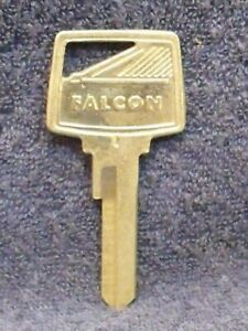 1960-1965 FORD FALCON Key Blank with Falcon Name & Logo Crest