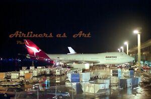 "Qantas Boeing 747-238B VH-ECB at LAX in 1980 8""x12"" Color Print"