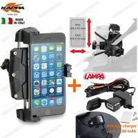PORTA SMARTPHONE KAPPA KS920L + PRESA USB SUZUKI 1000 DL V Strom L4> 2014-2015