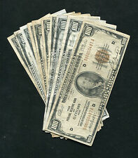 (10) TEN 1929 $100 ONE HUNDRED DOLLARS FRBN FEDERAL RESERVE BANK NOTES