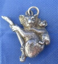VINTAGE STERLING SILVER MOTHER AND CHILD KOALA BEARS CHARM