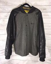 Vintage Nike Wool Leather Letterman Varsity Mens Jacket XL Snap Button Canada