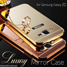 Luxury Aluminium Bumper With Mirror Acrylic Back Cover For Samsung Galaxy J2