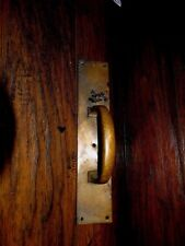 13879/ VINTAGE BRASS DOOR HANDLE / PULL ~ Architectural Savage ~ antique