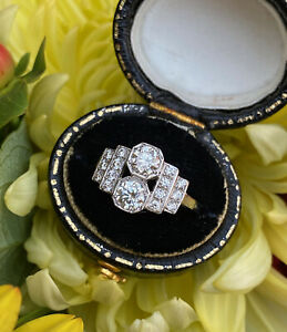 Art Deco Diamond Ring 0.90ct Platinum