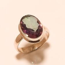Russian Rainbow Mystic Topaz Gemstone Sterling Silver Ring Vintage Retro Jewelry