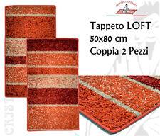 Tappeto LOFT 50x80 cm Coppia 2 Pezzi Polipropilene Lavabile