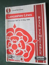 Rail Timetable Lancashire Lines Oct 1987 - May 1988 easyreader timetable