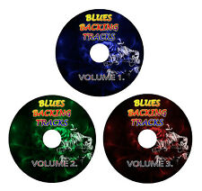 BLUES GUITAR BACKING TRACKS 3xCD GREATEST HITS BEST OF STYLE ROCK PLAY ALONG JAM