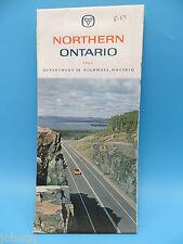 Vintage 1963 Northern Ontario Canada Map - Dept of Highways, Ontario