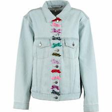 MANOUSH Women's Light Blue Bow Details Denim Jacket Size UK 10 EUR 38
