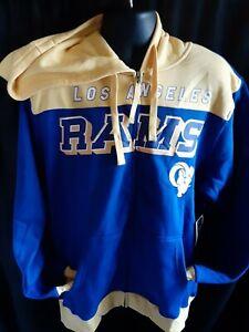 Los Angeles Rams NFL Men's G-III Front Zipper Hooded Sweatshirt XL or XXL
