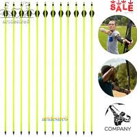 6/12/24pc 30'' carbon shaft arrows SP 600 bolts for compound/recurve bow archery