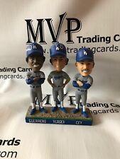 Pedro Guerrero Steve Yeager & Ron Cey Tri MVPs Auto Dodgers Bobble Head NIB PSA
