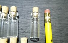 10 1.5ml micro Bottles. Corked Glass Vials. Art, Jewelry, and Incense Supplies.
