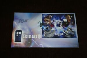 2013 First Day Cover, DOCTOR WHO m/s, Tardis, Dalek