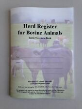 Herd Register for Bovine Animals