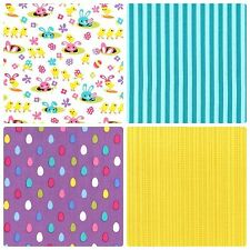MICHAEL MILLER SPRING MEADOW CRAFT FABRIC EASTER FABRIC FAT QUARTERS
