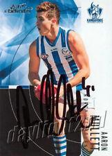 ✺Signed✺ 2012 NORTH MELBOURNE KANGAROOS AFL Card AARON MULLETT