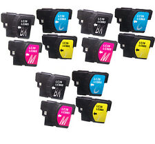 12 Non-OEM Fit For Brother MFC-J220 MFC-265W MFC-J265W Ink Cartridges