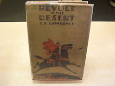 Revolt In The Desert  by T. E. Lawrence  1927  1st AM Edition  Gold Foil DJ
