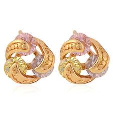 Cute 9K Yellow Gold Filled Multicolor Round CZ Women's Hoop Earrings,14ER0632