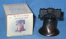 """Penncraft Miniature 2 1/2"""" Metal Liberty Bell #610 w/ Box 1975 Pa Library Conf"""