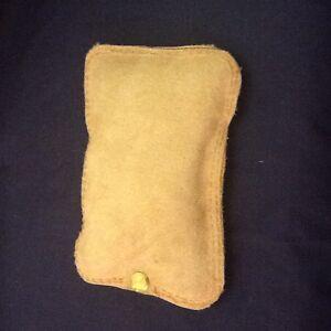 "Small Handheld Leather Sandbag (6"" by 4"")"