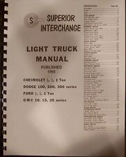 1948 49 50 51 52 53 54 55 56 57 58 Ford Dodge Chevy GMC Truck Interchange Manual