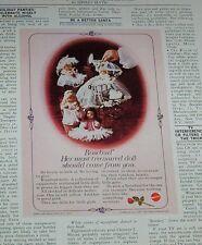 1977 old ad - Rosebud little Dolls vintage Mattel doll advertising PRINT ADVERT