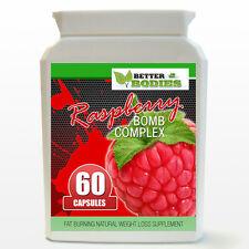 Raspberry Ketone BOMB Complex Weight Loss Diet STRONG Slimming Pills 60 Bottle