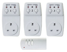 Wireless 3 Way Home Remote Control Plug In Switch 30 Meter Range