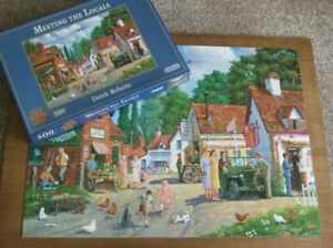 """JIGSAW by GIBSONS LTD  ** MEETING THE LOCALS ** 500 """"XL PIECES"""" - ALL COMPLETE"""