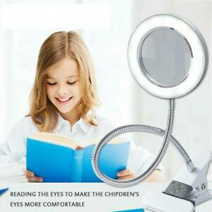 8x Dioptrien LED Lupenleuchte Lupenlampe Kosmetik Tätowierung Lupe Tischlampe `