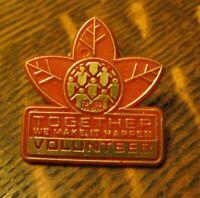 RJR Tobacco Leaf Volunteer Lapel Pin - Vintage R.J. Reynolds Company Employee